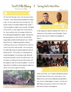 Blessing Summer Newsletter 2014
